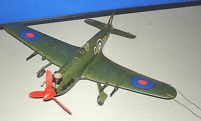 vintage control line aeroplane spitfire, McCoy glow engine 049 spare or repair