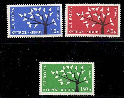 Cyprus. Set of 3 lightly hinged mint Europa stamps. 1963. Catalogue £22
