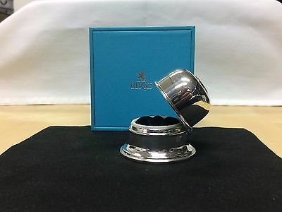 Birks Regency Lion Silver plate Dome Single Ring Box-Excellent Condition