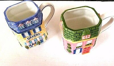 Vintage Mugs from Avon 1997 Cottage Collection Lot of 2 EUC