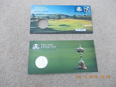 2014 Ryder Cup Medal &Cover