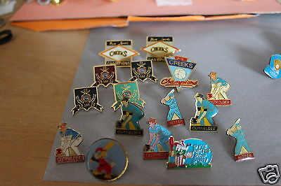 16 x  baseball team pin badges