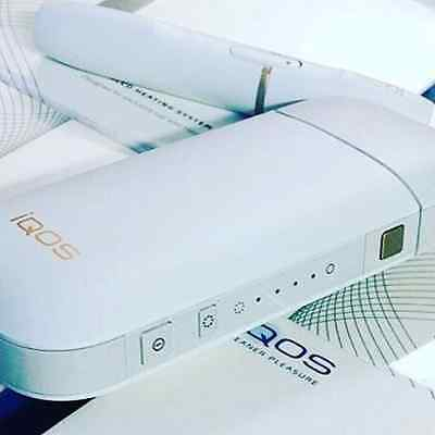 SET iQOS, WHITE Tobacco Electric heating system. All necessary devices in one pa