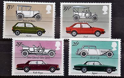 SG1198-1201 British Motor Cars, 1982, MNH
