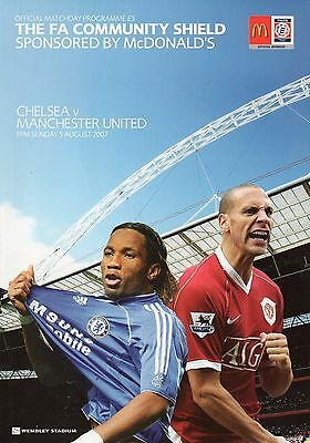 Chelsea v Manchester United 5th August 2007 Community Charity Shield Programme