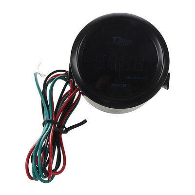 DRAGONGAUGE Digital Tachometer Tach Gauge for Auto Car 52mm LCD 0~9999RPM E8