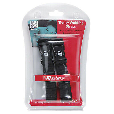 Masters Golf Trolley Webbing Straps - New Cart Bag Trolley Straps Clips Buckle