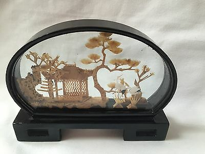 Vintage Chinese Cork Hand Made Picture 3D