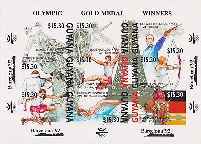 Guyana - Olympic Gold Medal Winners Barcelona 1992 - Sc 2390 MNH - IMPERFORATE