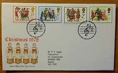 Christmas 1978 - First Day Cover 22nd November 1978