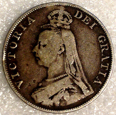 1889 Silver Florin Queen Victoria Jubilee Head Coin Sterling Great Britain