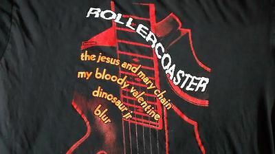 The Jesus And Mary Chain -RARE!  Rollercoaster Tour T-shirt  Dinosaur MBV Blur
