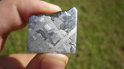 Beautiful! 13.2 gram Etched Toluca Meteorite Slice -  from Mexico