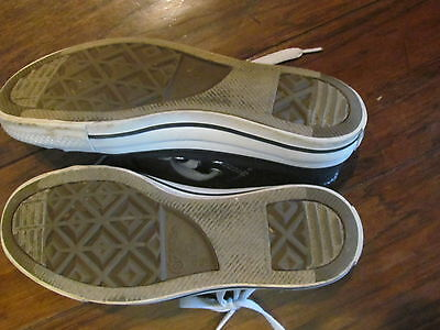 Black converse sneakers size 7.5 canvas low