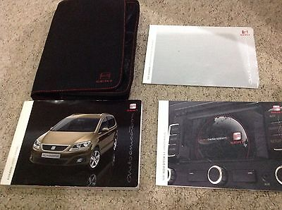 Seat Alhambra OWNERS MANUAL HANDBOOK PACK 2010-2015 inc media system 2.1