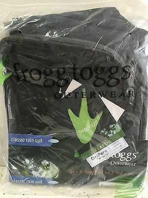 Frogg Toggs Pro Angler Bibb Suit Black Large PA109-01  New in Package