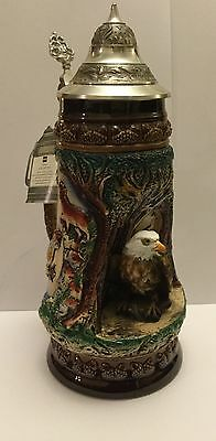Limited Edition Beer Stein With Eagle.Made in West Germany. King Company
