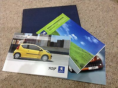 PEUGEOT 107 OWNERS MANUAL - OWNERS GUIDE - HANDBOOK 2008-2012  inc service book