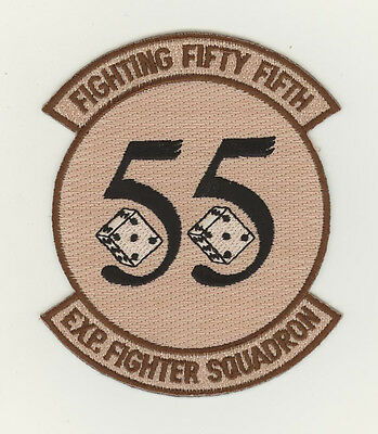 USAF patch Aufnäher 55 Fighter Squadron F16C Shaw AFB desert