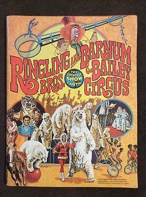 Ringling Bros and Barnum & Bailey Circus 1976 106th Edition Program w/poster Vtg
