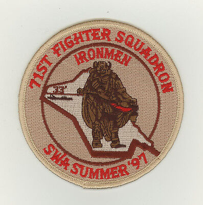 USAF patch Aufnäher 71 Fighter Squadron SWA 97 Iraq F15C Langley AFB