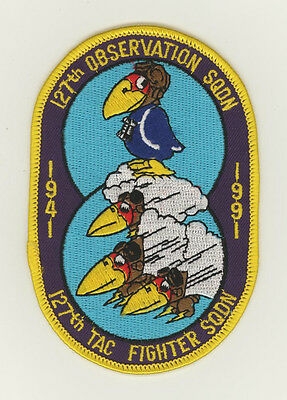 USAF patch Aufnäher 127 Tactical Fighter Squadron 50 years F16C McConnell AFB
