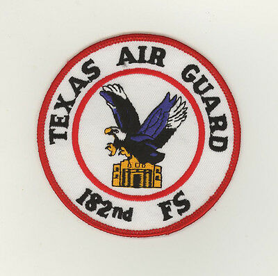 USAF patch Aufnäher 182 Fighter Squadron F16C Kelly Field Texas ANG
