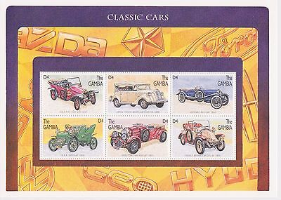 Gambia - Automobiles, Classic Cars, 1996 - Sc 1746 Sheetlet of 6 MNH