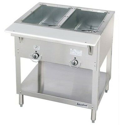 NEW 2 Well Gas Steam Table Dry Bath Duke 302 Commercial #4665 AeroHot NSF Food