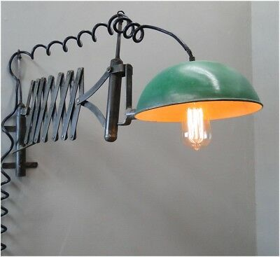 Factory Industrial Accordion Expands Wall Light Fixture Sconce