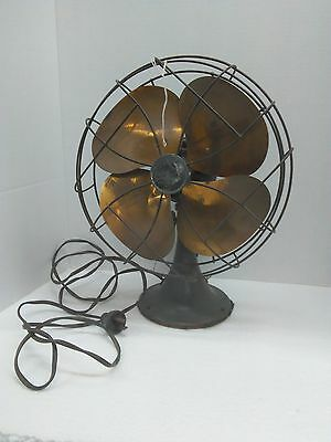 Vintage Emerson Table or Wall Mount 6250 - D 10 Inch Brass Blade Electric Fan