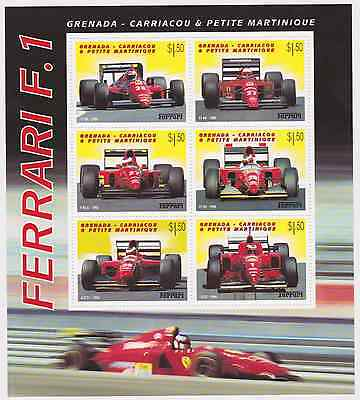 Grenada Grenadines - Cars, Ferrari, 2001 - Sc 2351 Sheetlet of 6 MNH