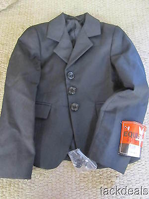 New Equistar Kids Youth 4 Black English Hunt Coat Jacket