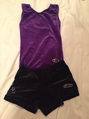 Girls Gymnastics Leotard And Shorts
