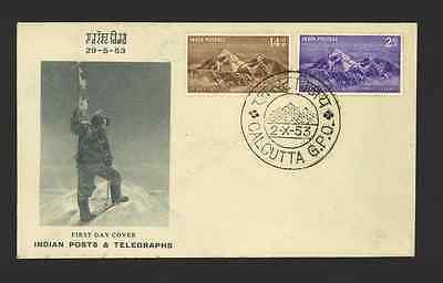 India First Day Cover (FDC) Hillary & Tenzing 1953