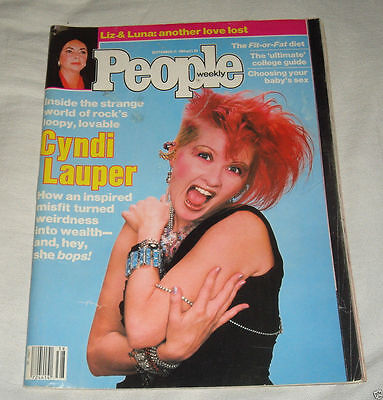 Cyndi Lauper People Magazine 1984