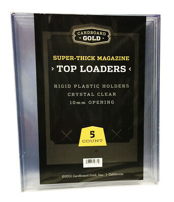 Pack / 5 CBG 9x11.5x10mm Thick Magazine / Program Hard Plastic Topload Holders