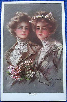©1908 Artist Philip Boileau Signed THE TWINS Glamour Art Reinthal & Newman PC