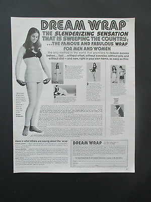 """Vintage 1972 Dream Wrap Weight Loss Product Print Ad, 12.75"""" X 10.125"""""""