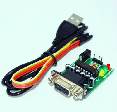 RS232 to TTL Converter module board MAX3232 Chip USB powered with cable - UK