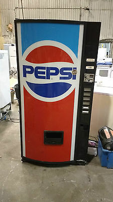 Dixie Narco 210-6 Bubble Front Soda Vending Machine Pepsi For Repair ''AS IS''