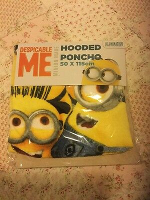 Despicable Me 'minion' Hooded Poncho Towel New Official