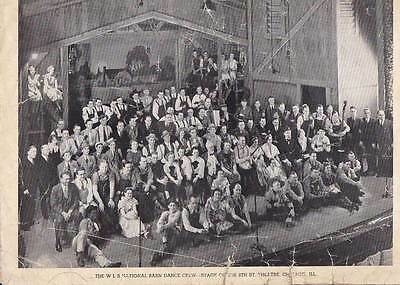 """1937 WLS """"National Barn Dance"""" Radio Show Promotional Photo. Red Foley, etc."""