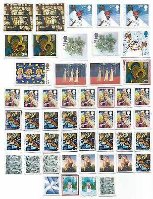 50 Unfranked 2Nd Class Gb Stamps Pk15