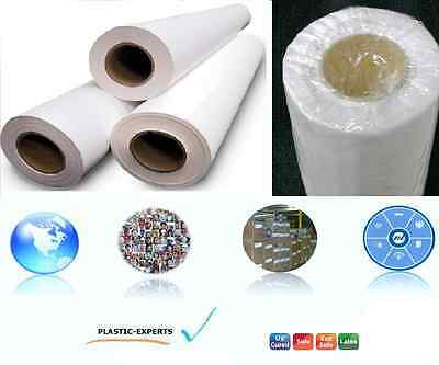 """ECO SOLVENT Wide Format Printing SELF-ADHESIVE Vinyl Gloss 30"""" x 75' (2 Rolls)"""