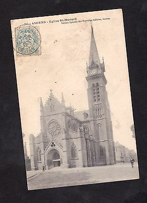 Cpa - 80  - Amiens - Eglise Saint Honore - Animee - Personnages