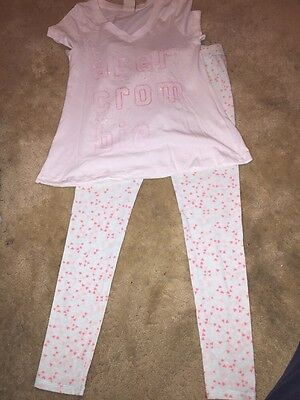 **ABERCROMBIE & FITCH SEQUIN TOP AND LEGGING SIZE M (9-10yrs)