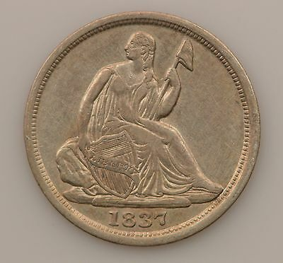 1837-P Seated Liberty Silver Half Dime *G27