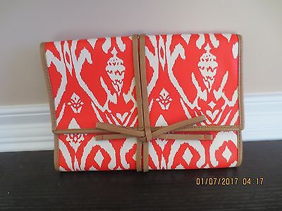 Stella & Dot - New - Travel Jewelry Holder Case Organizer - Red Ikat