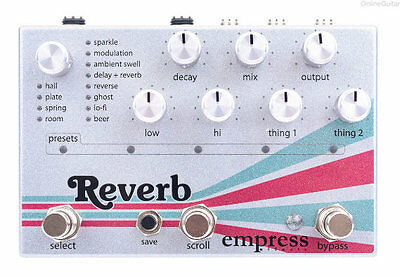 NEW EMPRESS EFFECTS REVERB EFFECTS PEDAL w/ FREE CABLE FREE US SHIPPING!!!
